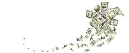 Photo for Money falling. American money. Washington american cash, usd background. - Royalty Free Image