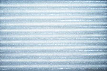Foto de Blue corrugated metallic texture industrial abstract pattern background with ridges - Imagen libre de derechos