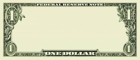 Photo for Blank one dollar bill - Royalty Free Image