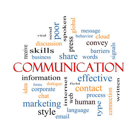 Photo pour Communication Word Cloud Concept with great terms such as corporate, message, language and more. - image libre de droit