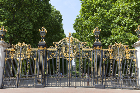 Photo for LONDON, UNITED KINGDOM, JUNE 21, 2017: Decorative Canada Gate to the Green Park near Buckingham Palace, City of Westminster - Royalty Free Image