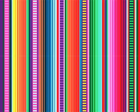 Illustration for Blanket stripes seamless vector pattern. Background for Cinco de Mayo party decor or ethnic Mexican fabric pattern with colorful stripes. Serape design - Royalty Free Image