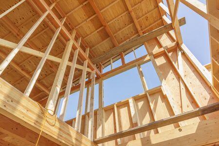 Photo pour Japanese new house under construction image material - image libre de droit