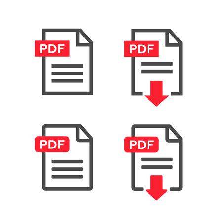 Illustration pour PDF file download icon. Document text, symbol web format information - image libre de droit