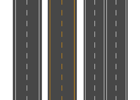 Illustration pour Horizontal roads. Street vector road flat. Asphalt road sign - image libre de droit