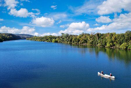 Photo for kayaking in town lake in austin texas usa - Royalty Free Image