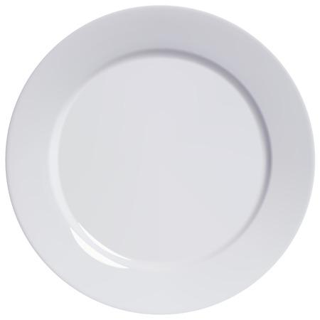 Illustration pour Plate empty isolated illustration - image libre de droit