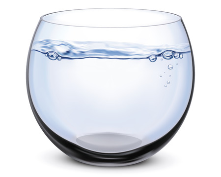 Illustration pour Fish bowl isolated on white.  - image libre de droit