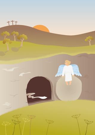 Illustration pour Empty tomb - image libre de droit