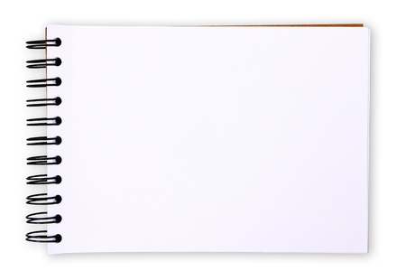 Blank paper tablet on white background (with clipping paths)