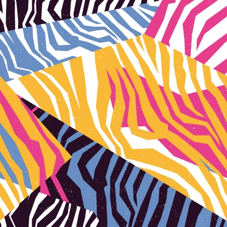 Illustration for Seamless colorful animal skin texture of zebra - Royalty Free Image