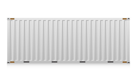 Illustration pour Illustration of cargo container isolated on white background. - image libre de droit