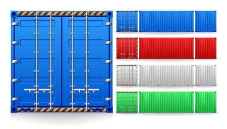Illustration for Illustration of cargo container isolated on white background. - Royalty Free Image