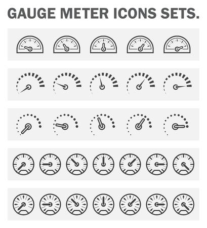 Illustration pour Gauge meter icons sets. - image libre de droit