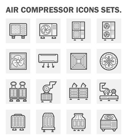 Illustration pour Air compressor icons sets. - image libre de droit