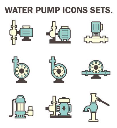 Illustration pour Water pump icons sets. - image libre de droit