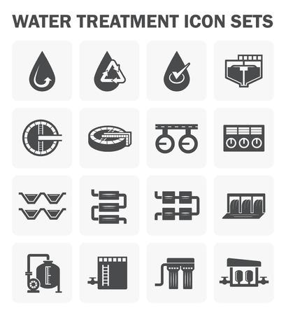 Illustration pour Water treatment icon sets design. - image libre de droit