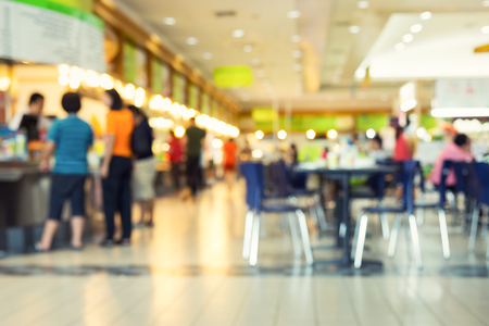 Photo for Defocused or blurred photo of food court. - Royalty Free Image
