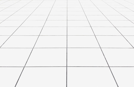 Photo pour White tile floor clean condition with geometric line for background. - image libre de droit