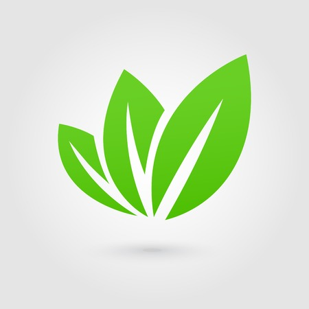 Illustration for Eco icon green leaf vector illustration isolated - Royalty Free Image