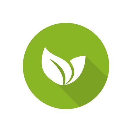 Illustration for Eco icon green leaf illustration isolated. Leaf Icon. - Royalty Free Image