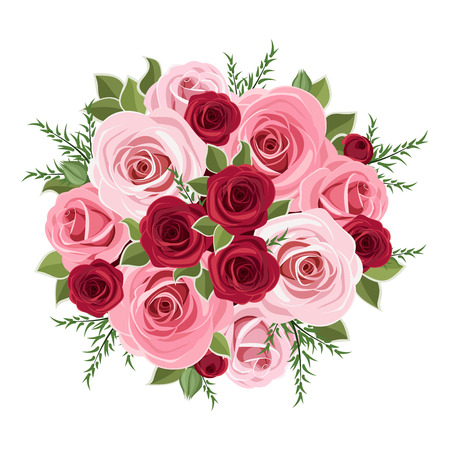 Illustration for Roses bouquet  Vector illustration  - Royalty Free Image
