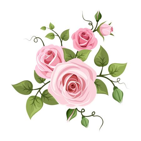 Ilustración de Pink roses illustration  - Imagen libre de derechos