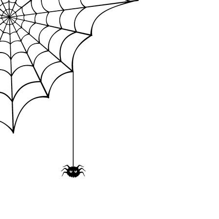 Illustrazione per Spider web and spider illustration  - Immagini Royalty Free