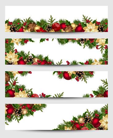 Ilustración de Christmas banners. Vector eps-10. - Imagen libre de derechos