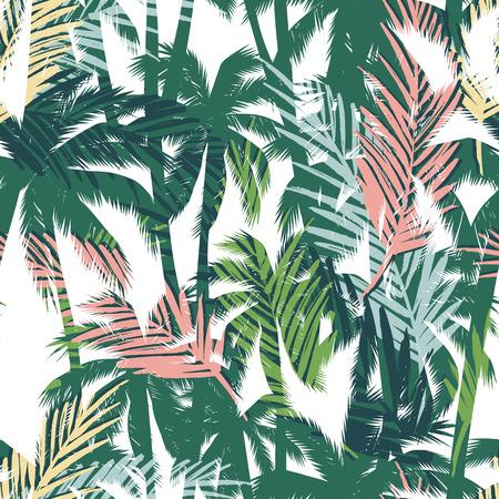 Photo pour Tropical summer print with palm. Seamless pattern - image libre de droit