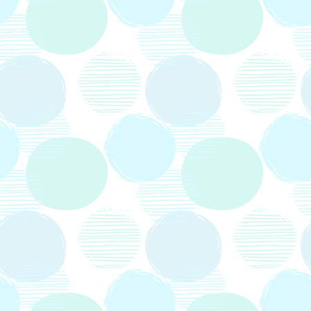 Illustration pour Abstract geometric seamless pattern with circles. - image libre de droit