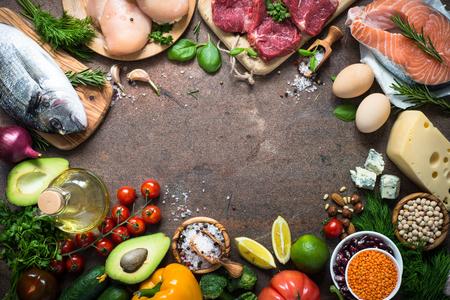 Photo pour Balanced diet. Organic food for healthy nutrition. - image libre de droit