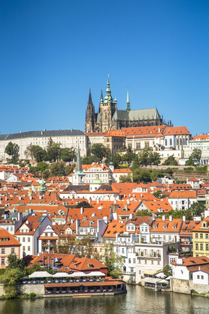 Photo for Old town of Prague and Prague castle, Czech Republic. - Royalty Free Image