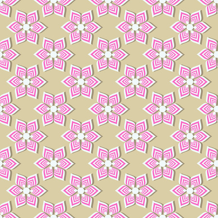 Illustration pour seamless vector background illustration of abstract striped flowers - image libre de droit