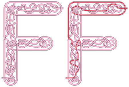 Ilustración de Maze in the shape of capital letter M - Imagen libre de derechos