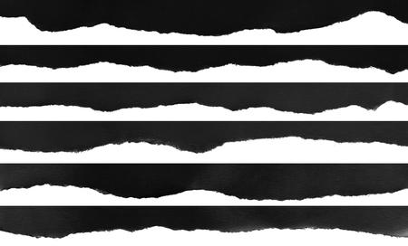 Foto de Ripped black and white paper, copy space - Imagen libre de derechos
