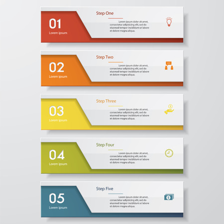 Illustration pour Design clean number banners template/graphic or website layout. Vector. - image libre de droit