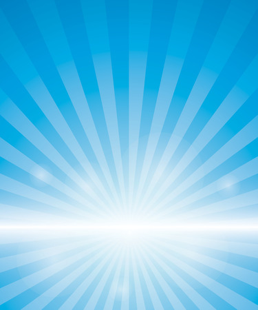 Illustration for Blue Background With Sunburst. Vector Illustration - Royalty Free Image