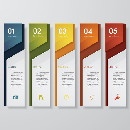 Illustrazione per Design clean number banners template/graphic or website layout. Vector. - Immagini Royalty Free