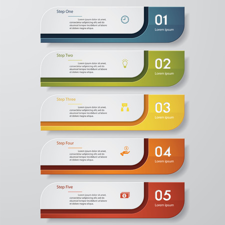 Ilustración de Design clean number banners template/graphic or website layout. Vector. - Imagen libre de derechos