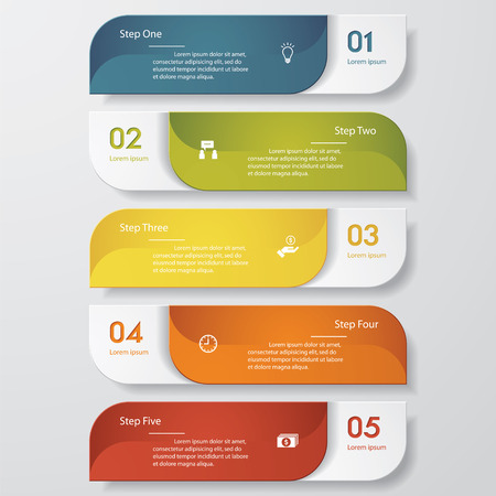 Illustration pour Design clean number banners template. Vector. - image libre de droit