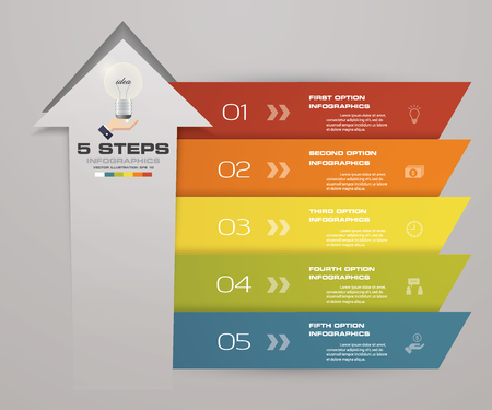 Illustration pour 5 steps of arrow Infografics template. for your presentation. EPS 10. - image libre de droit