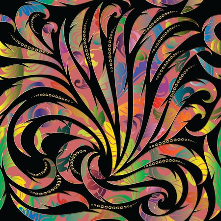 Illustration pour Colorful abstract floral seamless pattern. - image libre de droit