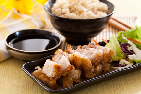Photo for Crispy pork rice in chinese restaurants - Royalty Free Image