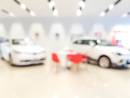 Photo pour blurred showroom car : for background use - image libre de droit