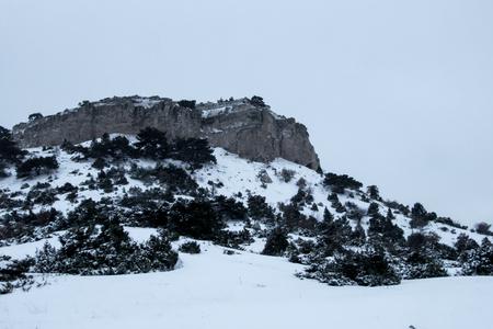Foto de Winter Landscape with mini Car - Imagen libre de derechos