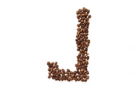 Photo pour Coffee beans alphabet - image libre de droit