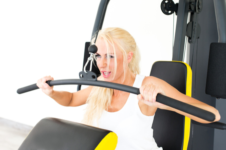 Photo for Fitness with young, blond woman - Royalty Free Image