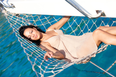 Photo for Woman on a yacht - Royalty Free Image