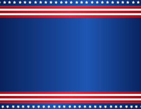 Ilustración de Stars and stripes USA patriotic background / border - Imagen libre de derechos